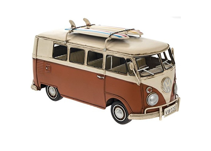 VW Camper Van Metal Model Orange - 1