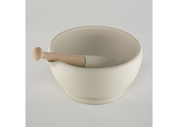Wade Ceramics MMP4-00 Milton Brook 6.5 in. Mortar and Pestle - 1