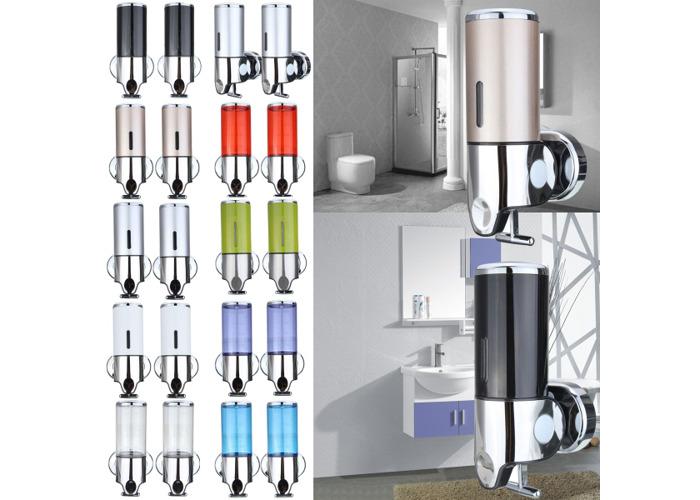 Wall Mounted Bathroom Manually Lotion Shampoo Bottle Dispenser Liquid Soap Squeezer - 1