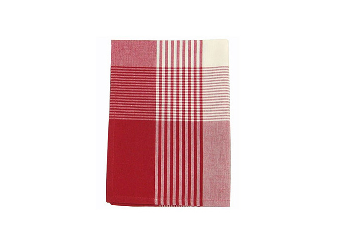Walton & Co Auberge Gingham Tea Towel Red - 1