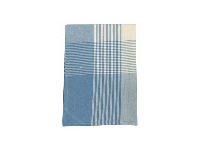 Walton & Co Auberge Gingham Tea Towel Wedgwood Blue - 1