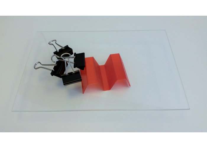 Wanhao Glas Plate with Clips 4X/4S - 2