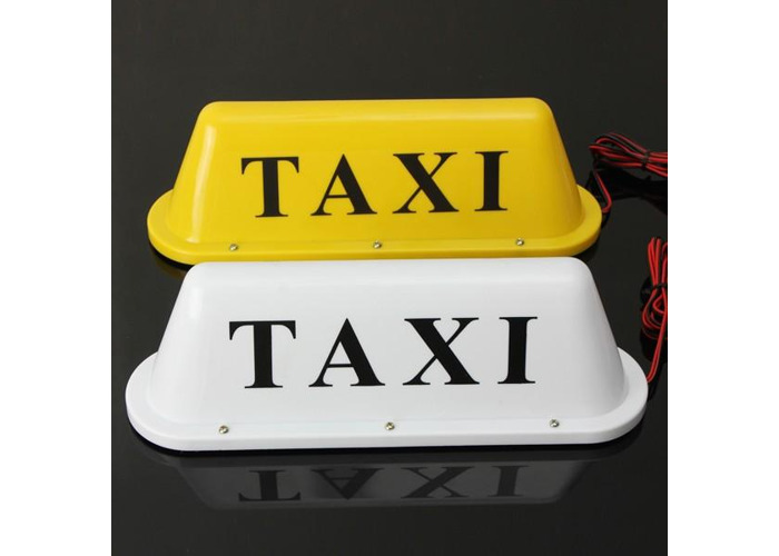 Waterproof Taxi Magnetic Base Roof Top Car Cab LED Sign Light Lamp - 1
