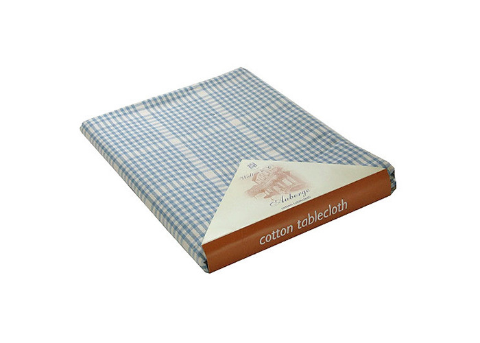 Wedgewood Blue Auberge Heavy Weight Cotton Tablecloth 130x280cm - 1