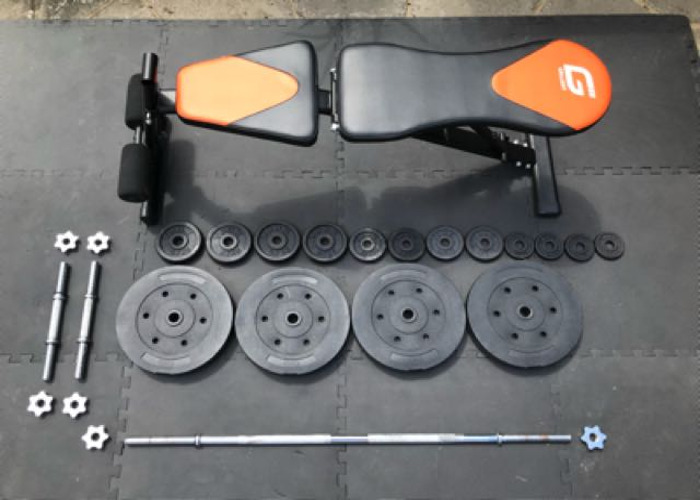 Weight Bench And Complete Weights Set  - 2