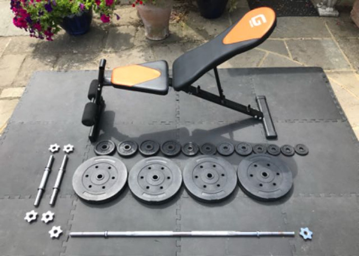 Weight Bench And Complete Weights Set  - 1