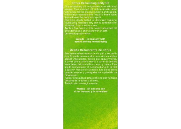Weleda Organic Citrus Refreshing Body Oil 100ml - 2