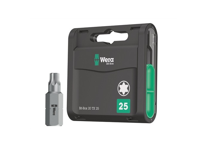 Wera WER057773 Bit-Box 20 H Extra Hard Bits TX25 x 25mm 20 Piece - 1