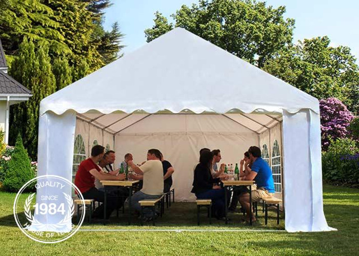 Rent white 3x6 pvc 500mg gazebo marquee for hire fat llama