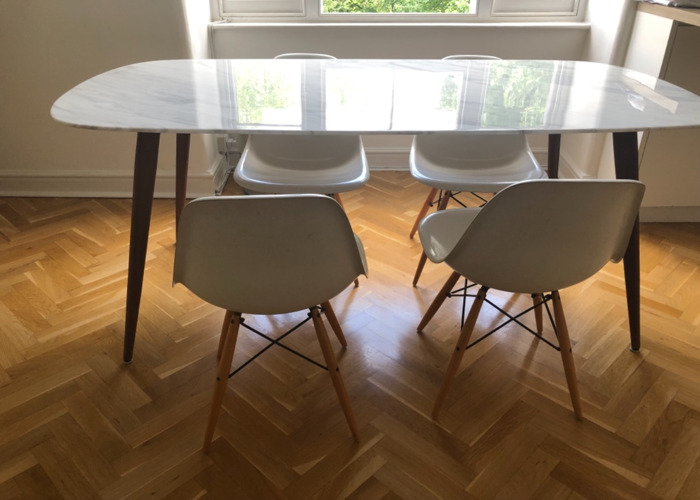 White Dining Room Chairs - 1