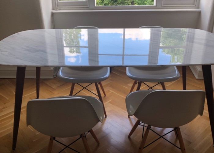 White Dining Room Chairs - 2