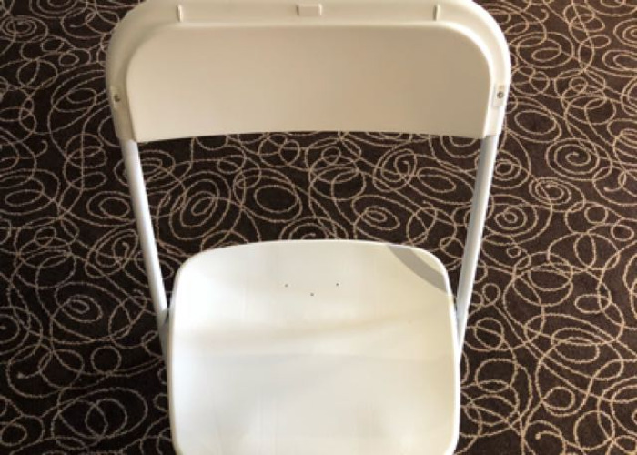 White Folding Chairs Hire  - 1