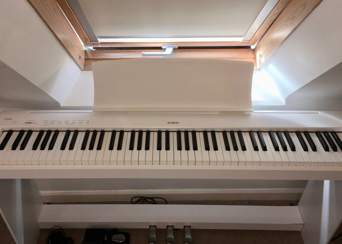 Rent White Kawai ES 110 Portable Digital Piano with Stand and Pedals in  Berkhamsted