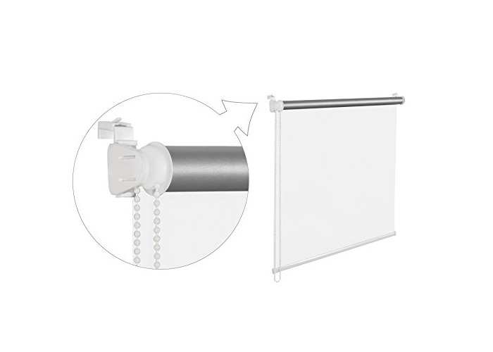 White Thermal Blackout Window Roller Blind Available in 16 Width Sizes, 60cm wide (plus 4.5cm fittings) - 1