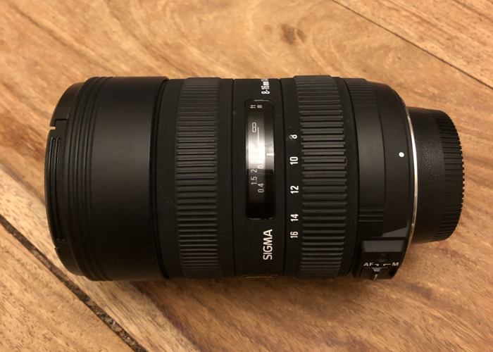 Wide angle lens for Nikon Sigma 8–16mm f/4.5–5.6 DC HSM - 1