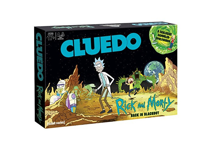 Winning Moves 11422 Cluedo Most Popular Detective Game in the World Meets The Colourful Cartoon World of Scholars Rick and Morty Grandson, (German) - 2