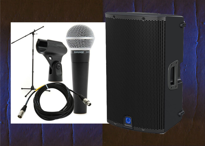 rent wired mic and speaker in london fat llama. Black Bedroom Furniture Sets. Home Design Ideas