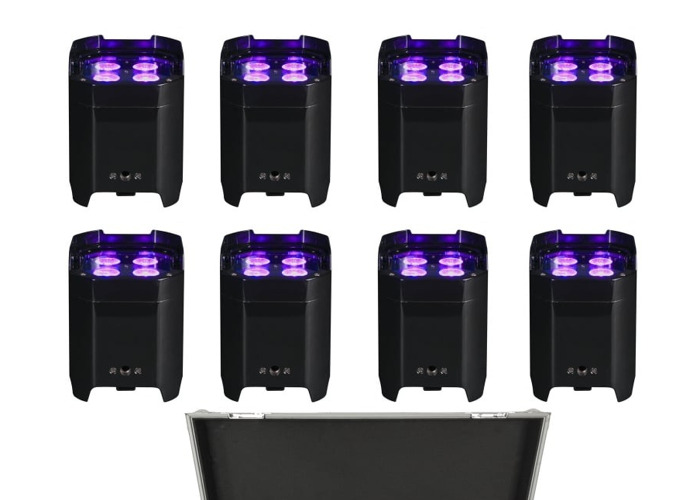 18x Wireless Coloured Event Uplights - 1