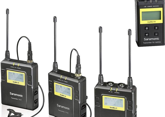 Wireless Lav Transmitters (2x Lapel Packs + RX) w/XLR  - 1