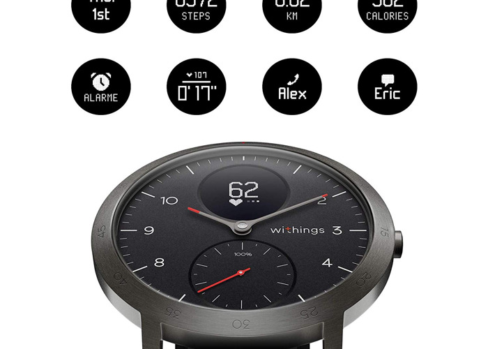 Withings Steel HR Sport Smartwatch (40mm) - Activity Tracker - 1