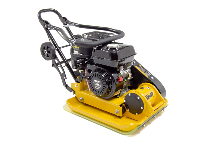 Wolf 13000N Petrol Powered Compactor with Wheels & Paving Pad - 1