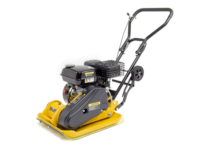 Wolf 13000N Petrol Powered Compactor with Wheels & Paving Pad - 2