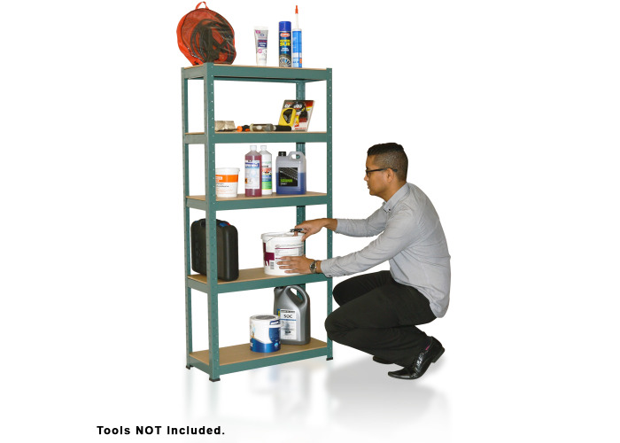 Wolf 1500mm Strong Steel 5 Tier Boltless Shelving Unit - 1
