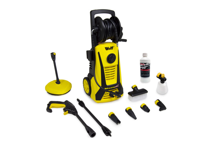 Wolf 165BAR Pressure Washer with Telescopic Lance & Snow Foaming Kit - 2