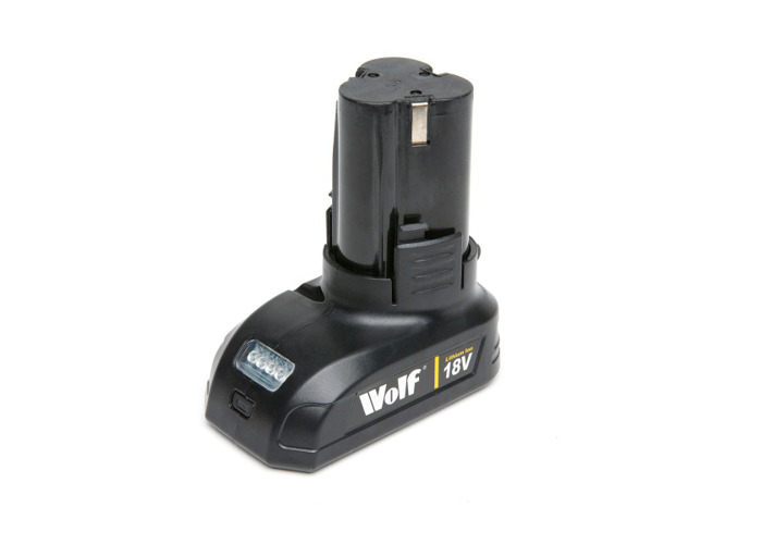 Wolf 18v Lithium Ion Battery for Drill Driver & Impact Driver - 1