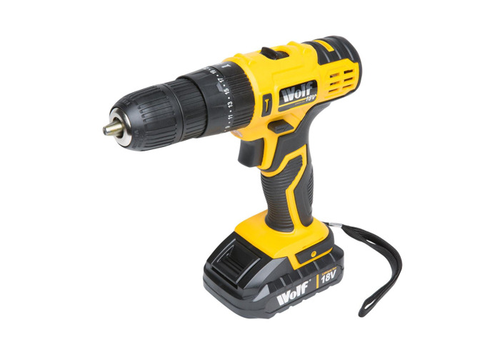 Wolf 18v Lithium Ion Combi Drill & 40pc Tool Set - 2