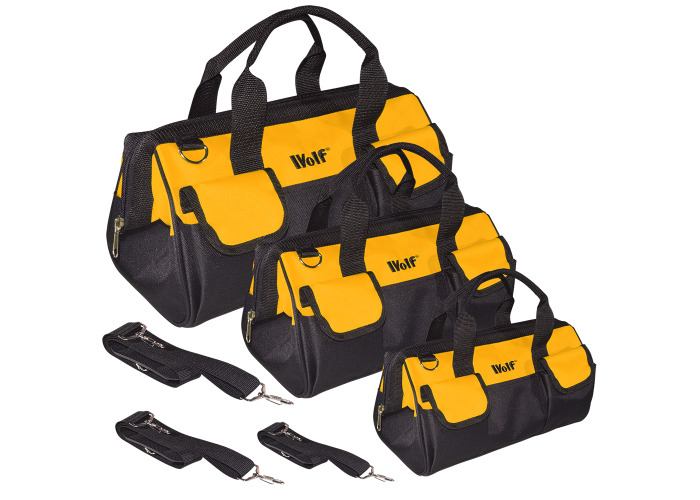 Wolf 3pc Heavy Duty Tool & Travel Bag Set - 1