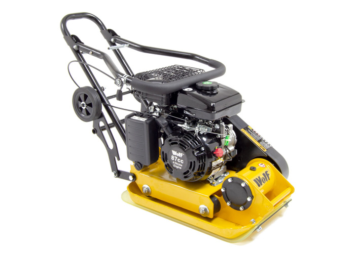 Wolf 8200N Petrol Powered Compactor with Wheels & Paving Pad - 1