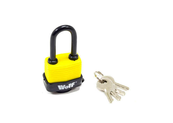 Wolf Heavy Duty 40mm Padlock with Long Shackle - Pack of 5 - 2