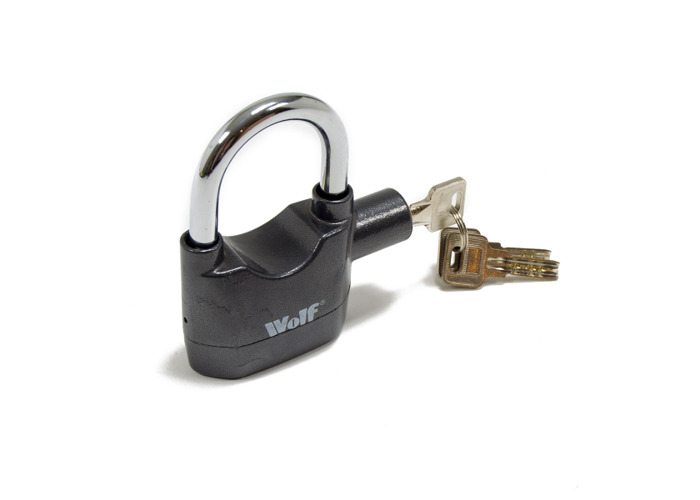 Wolf High Security Alarmed Padlocks - Pack of 2 - 1