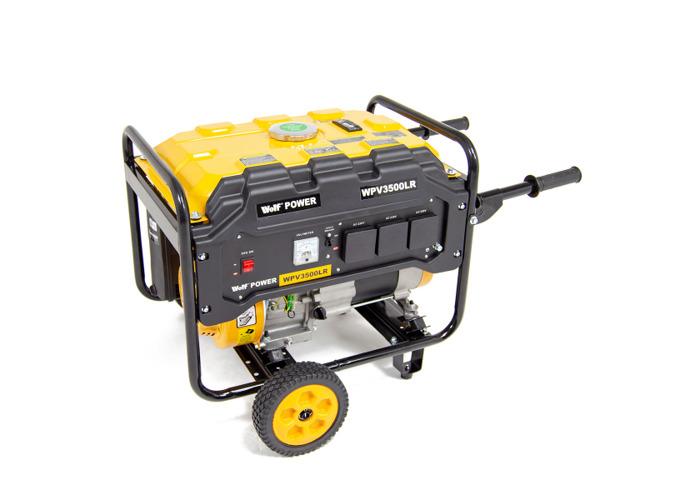 Wolf Power 4.0KVA Heavy Duty Petrol Powered Generator With Wheel Kit WPV3500LR - 1