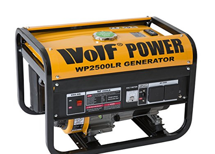 Wolf Power WP2500LR 2500 Watt, 3.12KVA Petrol Powered Genera - 1