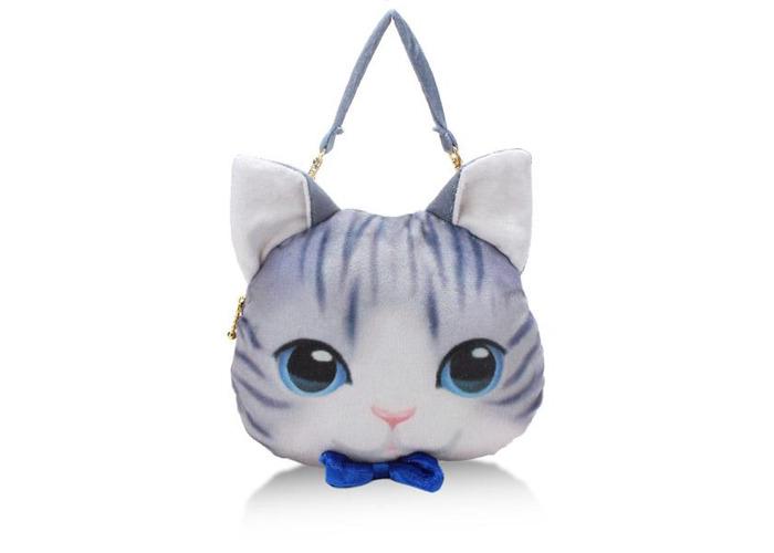 Women Lovely Cat Bowknot Crossbody Bags Handbags Coin Purse Zipper Wallet Card Holder - 1