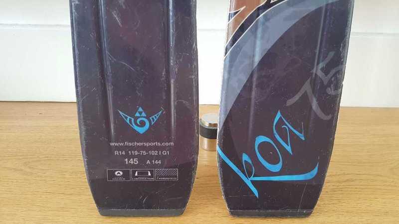 WOMEN'S INTERMEDIATE SKIS - Fischer Koa 75 Skis with Bindings Black/Blue - 1