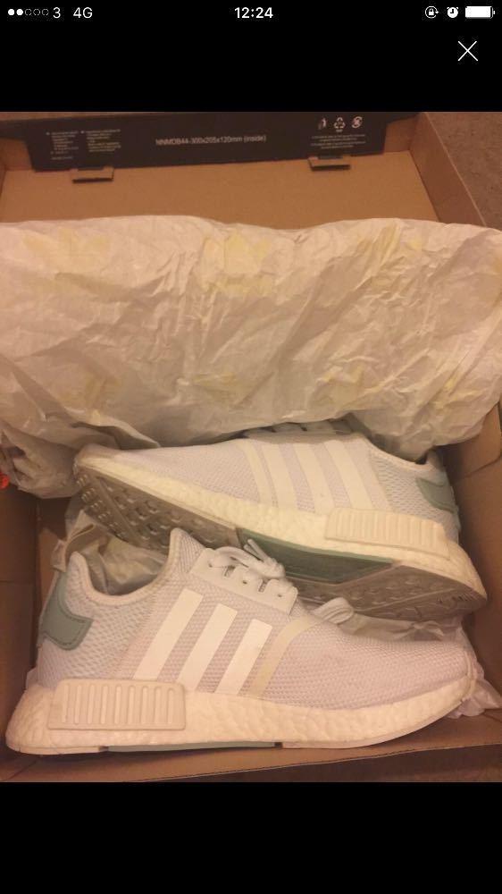 Women's White Adidas NMD's - 1