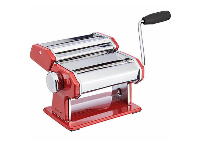 World of Flavours Stainless Steel Pasta Maker Machine - Red - 1
