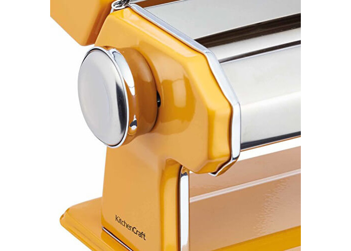 World of Flavours Stainless Steel Pasta Maker Machine - Yellow - 2