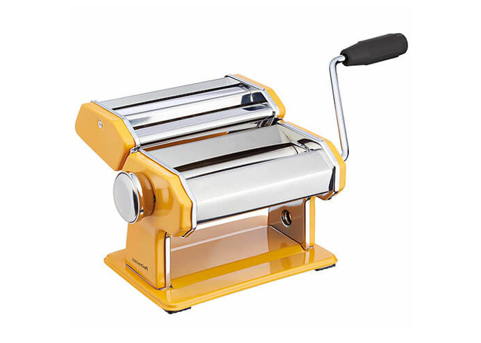 World of Flavours Stainless Steel Pasta Maker Machine - Yellow - 1