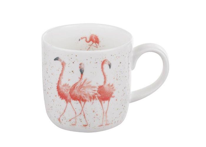 Wrendale by Royal Worcester Mug - Pink Ladies (Flamingos), Multi colour - 1