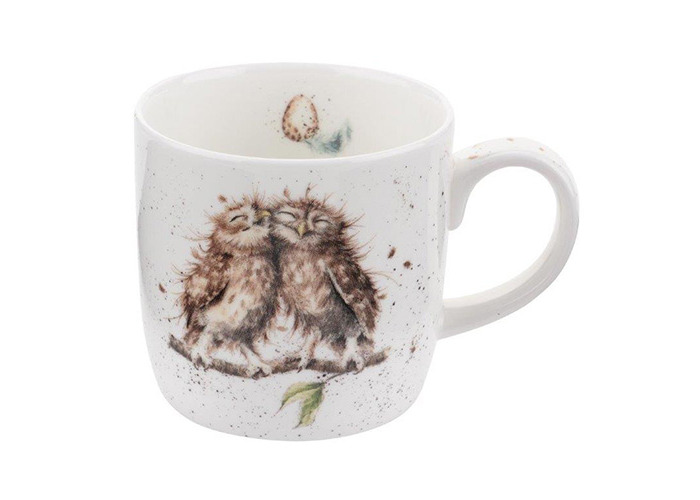 Wrendale by Royal Worcester Mug Birds of a Feather Owl, Multi-Colour - 1