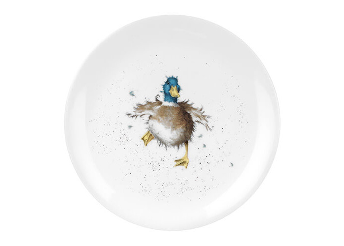 Wrendale Coupe Plate-Waddle and a Quack (Duck), Bone China, Multi Coloured, 20.7 x 20.7 x 1 cm - 1