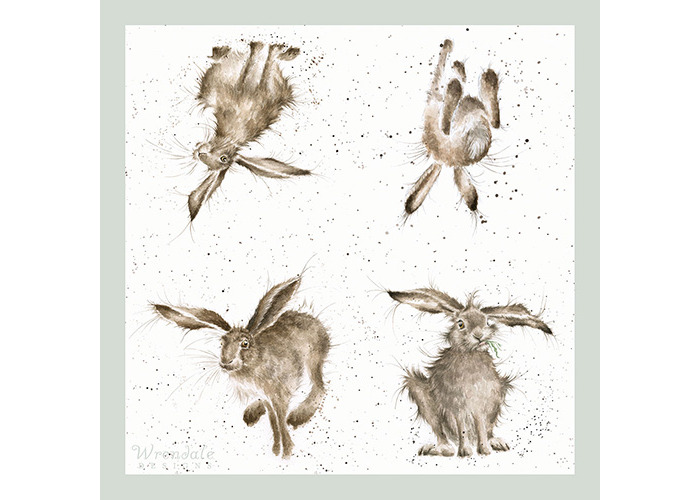 Wrendale Designs 'Hare Brained' Paper Napkins - Pack of 20 - 1
