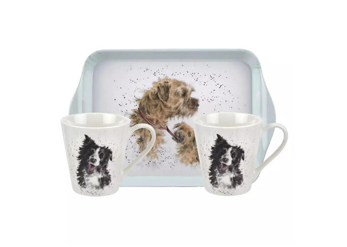 Wrendale Designs Mug & Tray Set Dogs 6 for 5 - 1