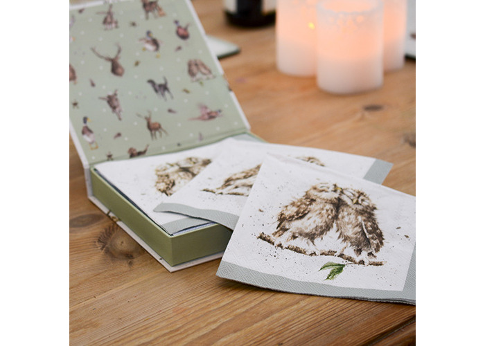Wrendale Designs Pack Of 20 What A Hoot Owls Lunch Paper Napkins Boxed - 2