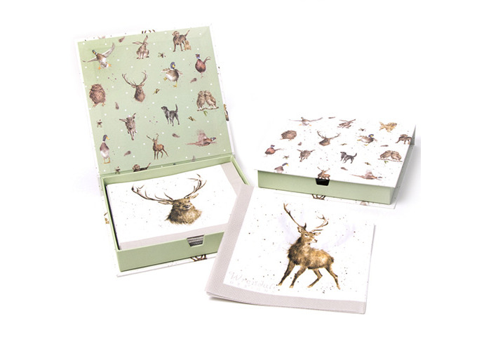 Wrendale Designs Pack Of 20 Wild At Heart Paper Lunch Napkins Boxed - 1