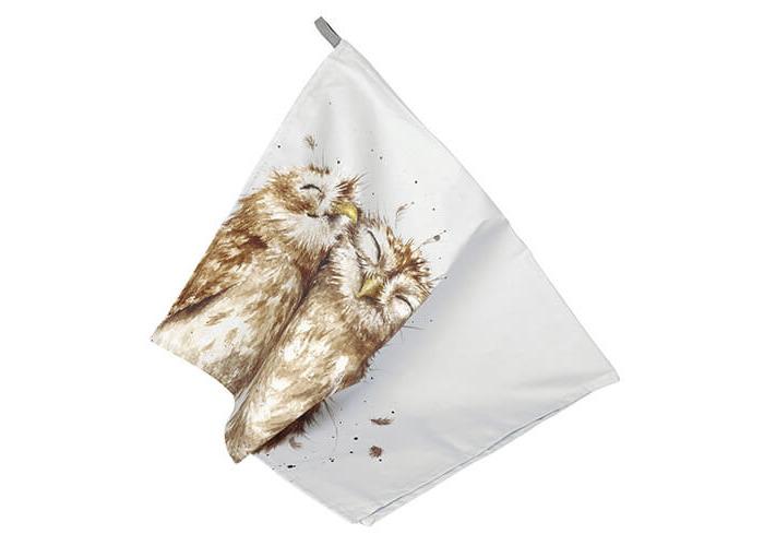 Wrendale Designs Tea Towel Owl Design - 1